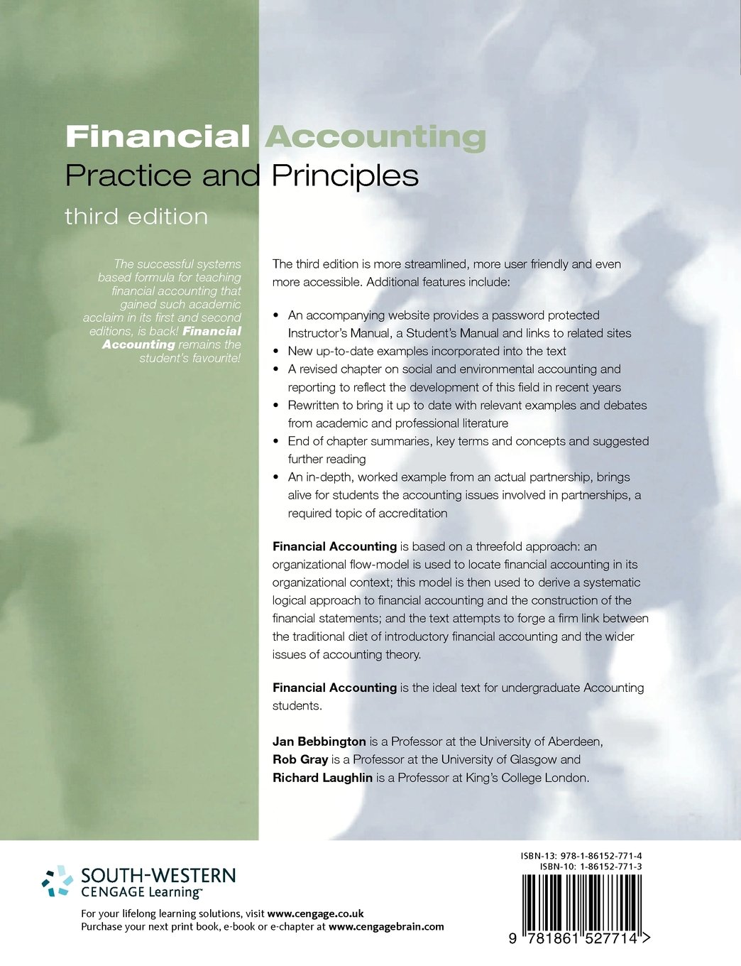 Financial Accounting: Practice and Principles: Jan Bebbington, Rob Gray,  Richard Laughlin: 9781861527714: Amazon.com: Books