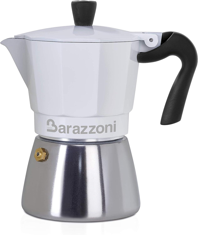 Barazzoni Moka - Cafetera híbrida 6 TZ-apta para inducción, acero