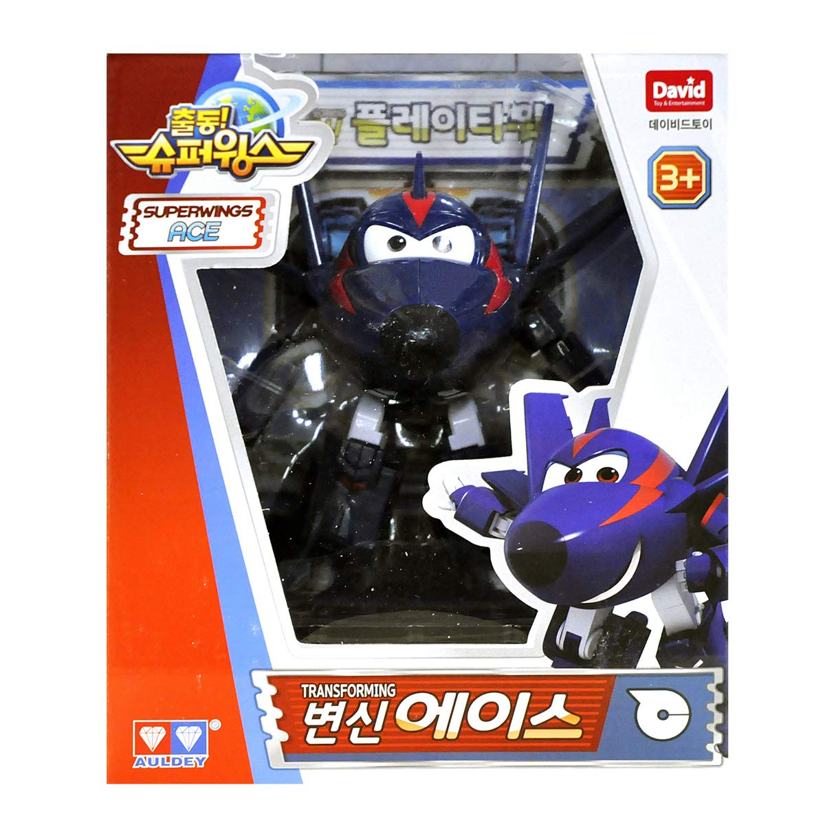Super Wings Agent Chase Ace Season 2 Transforming Planes Series Animation Ship from Korea David toy