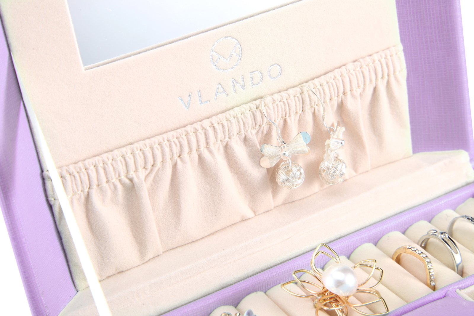 Vlando Princess Style Jewelry Box from Netherlands Design Team, Fabulous Christmas Gift for Girls (Purple) by Vlando (Image #5)