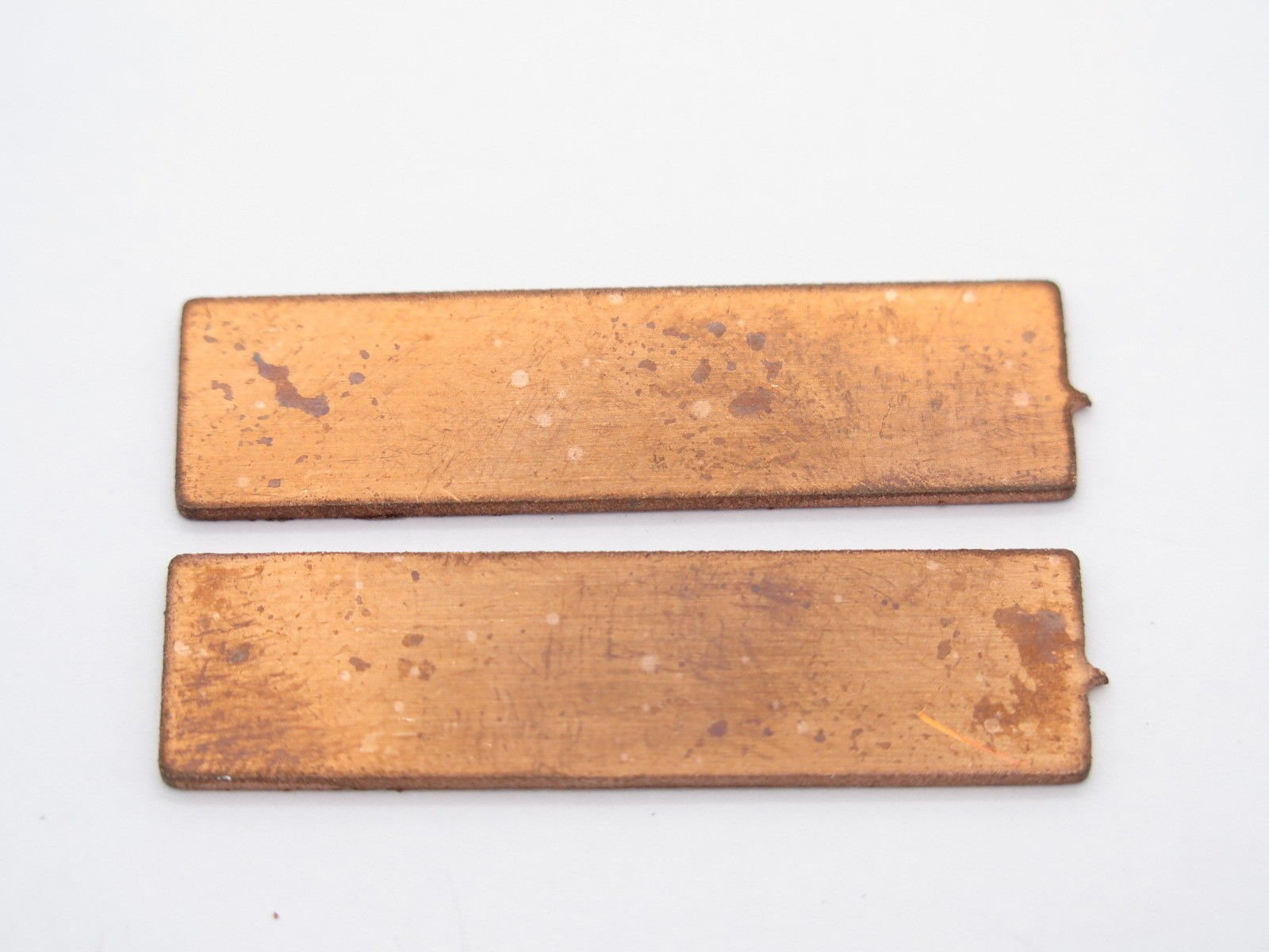 USA Lot of 2 0.040'' Copper Spacer Fixed Blade Knife Handle Making Part