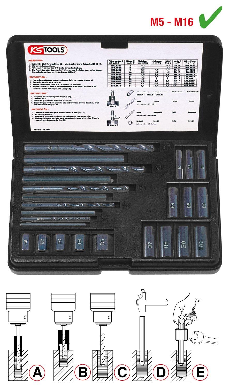 25 pcs KS Tools 150.1305  Stud extractor set