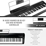 M-Audio Hammer 88 88-Key USB/MIDI Keyboard with