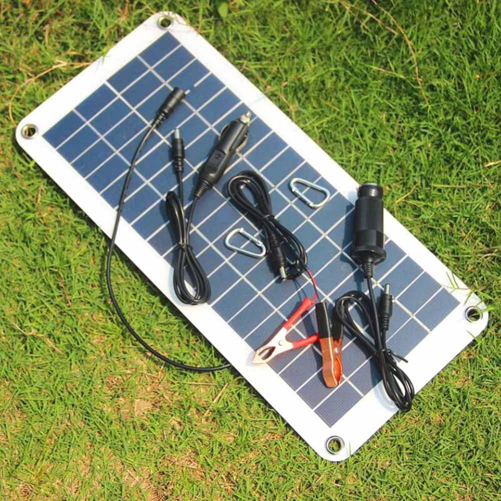 symboat caricatore solare della batteria del pannello solare 12/V a 5/V 20/W per l alimentazione di energia di Camper Barca Auto