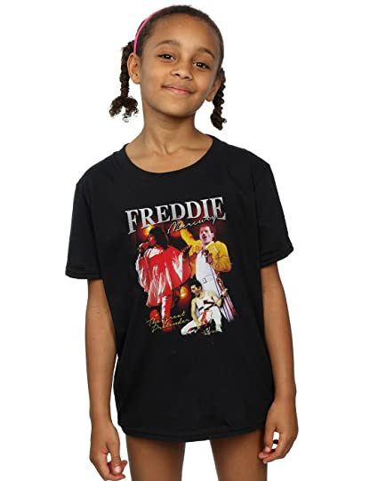 Absolute Cult Queen Niñas Freddie Mercury Homage Camiseta: Amazon.es: Ropa y accesorios