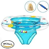 Flotador para bebé con asiento, KimKo Inflable Bebé Asiento Hinchable Anillo de Natación para 1-3 Años de Edad  (Azul)