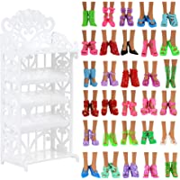 Barwa Accessories for 11.5 Inch 30 cm Dolls: Shoe Rack + 40 PCS Shoes