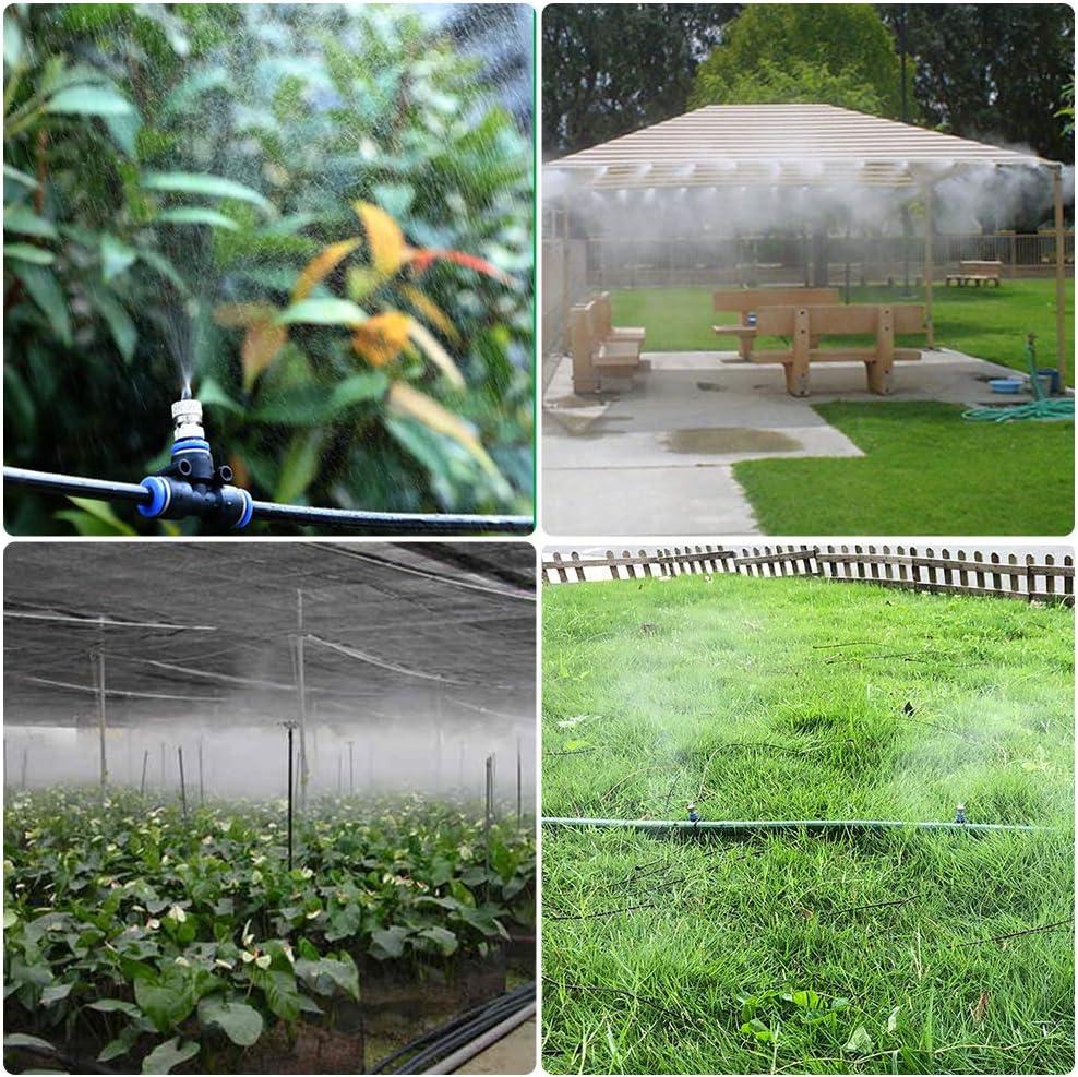 32.8 pies (10M) L/ínea de nebulizaci/ón 14 boquillas de neblina para patio jard/ín invernadero trampol/ín Eterbiz Sistema de enfriamiento por neblina sistema de riego de bricolaje Patio Mister