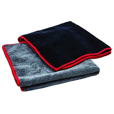 "Towels by Doctor Joe Ultra-85 Black Super Plush 16"" x 27"" Microfiber Towel - 12 Pack: Automotive"