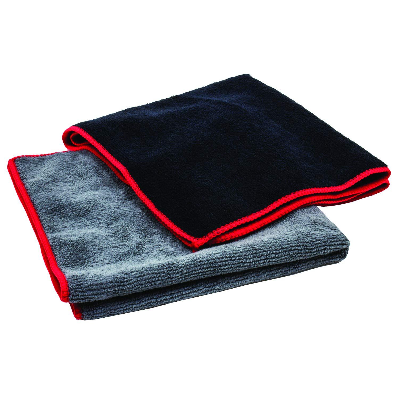 Towels by Doctor Joe DJMF8500-BK Black 12 Pack Microfiber Towel, 12 Pack
