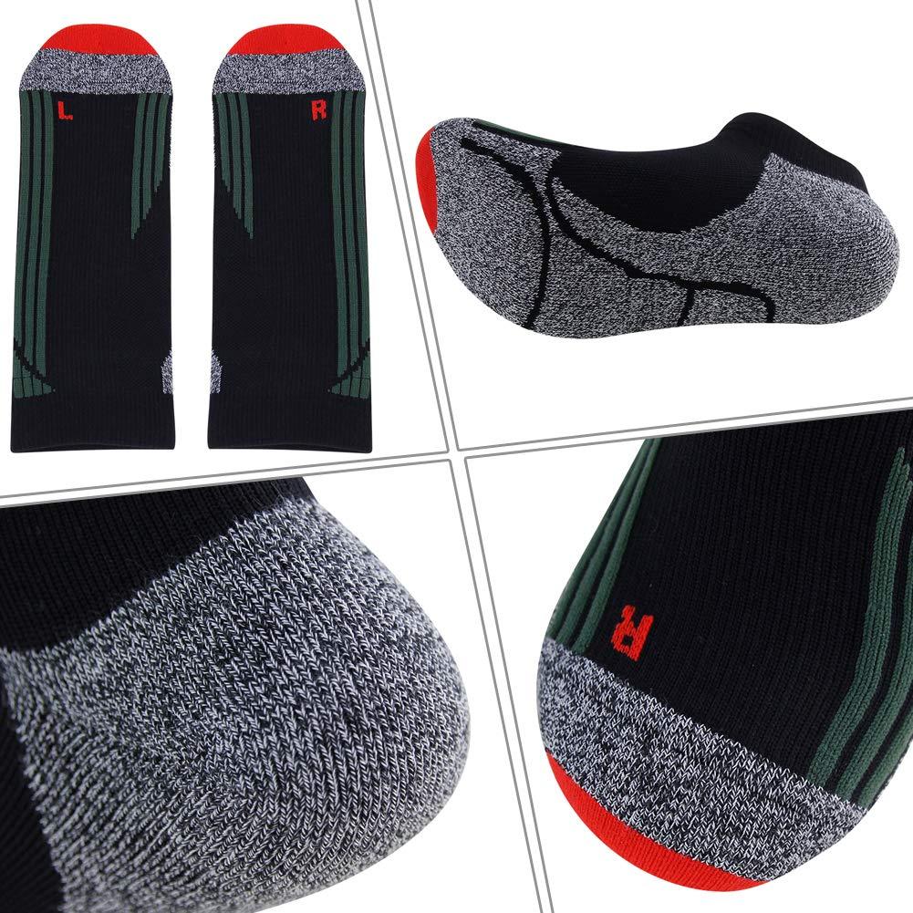 LANDUNCIAGA Mens Compression Running Socks Unisex Ankle Cycling Athletic Socks 10-15 mmHg,1//3//6 Pairs