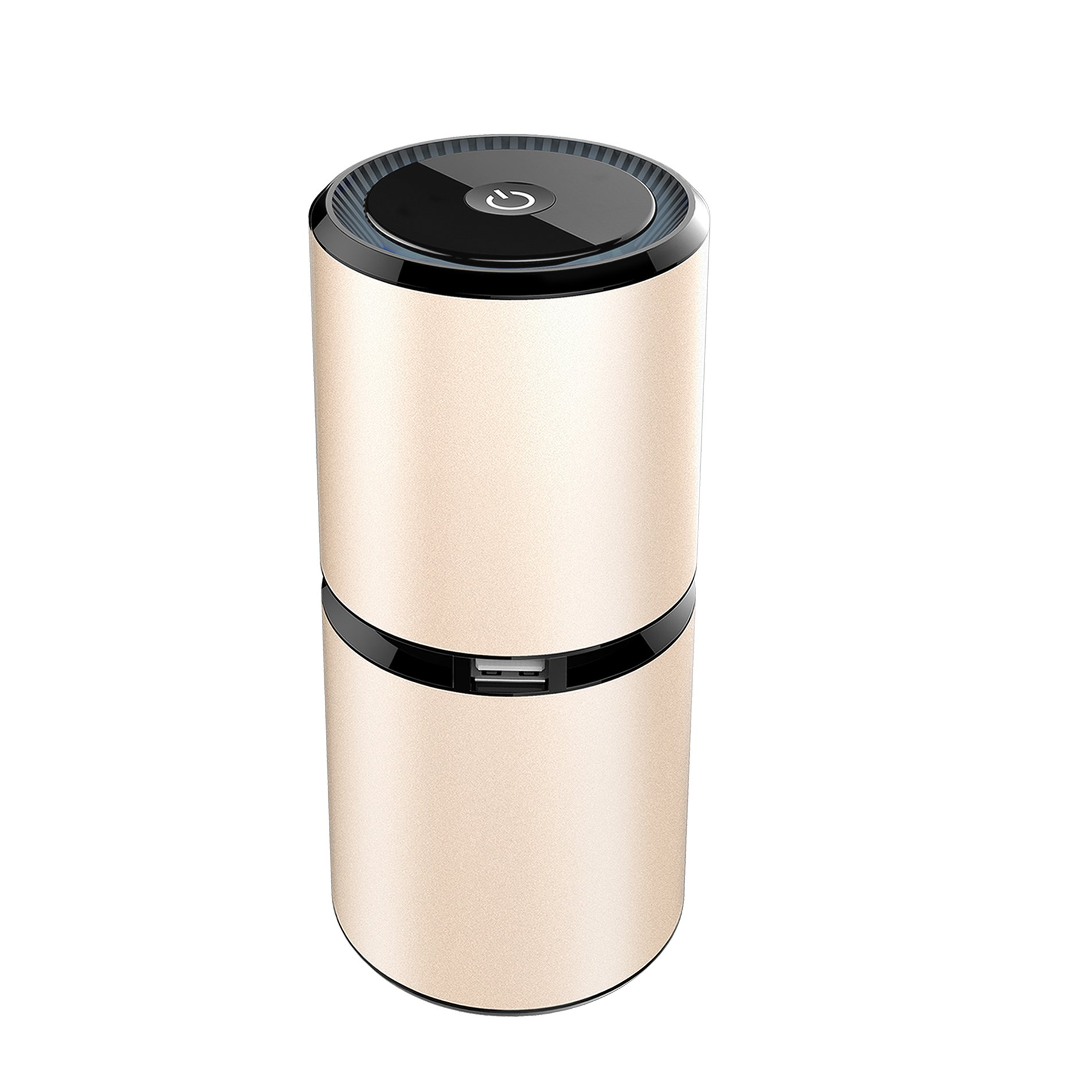 Thinkga Travel Size Car Air Purifier, Removes Dust, Cigarette Smoke, Bad Odors, Release Anion- Available For Automobile and Small Room- Silver