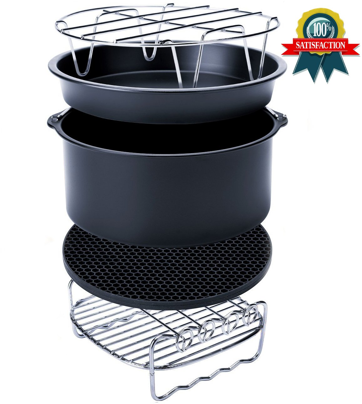 Air Fryer Accessories for Gowise Phillips and Cozyna Etc,Air Fryer Accessories Kit of 5 Fit all 3.7QT-5.3QT-5.8QT FourWinner