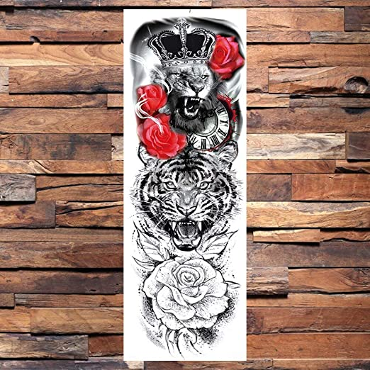 Yyoutop Tatouage De Bras Complet Tatouage Realiste Rose Tatouage Manche Femme Ange Guerrier Tatouage Autocollant Amazon Fr Cuisine Maison