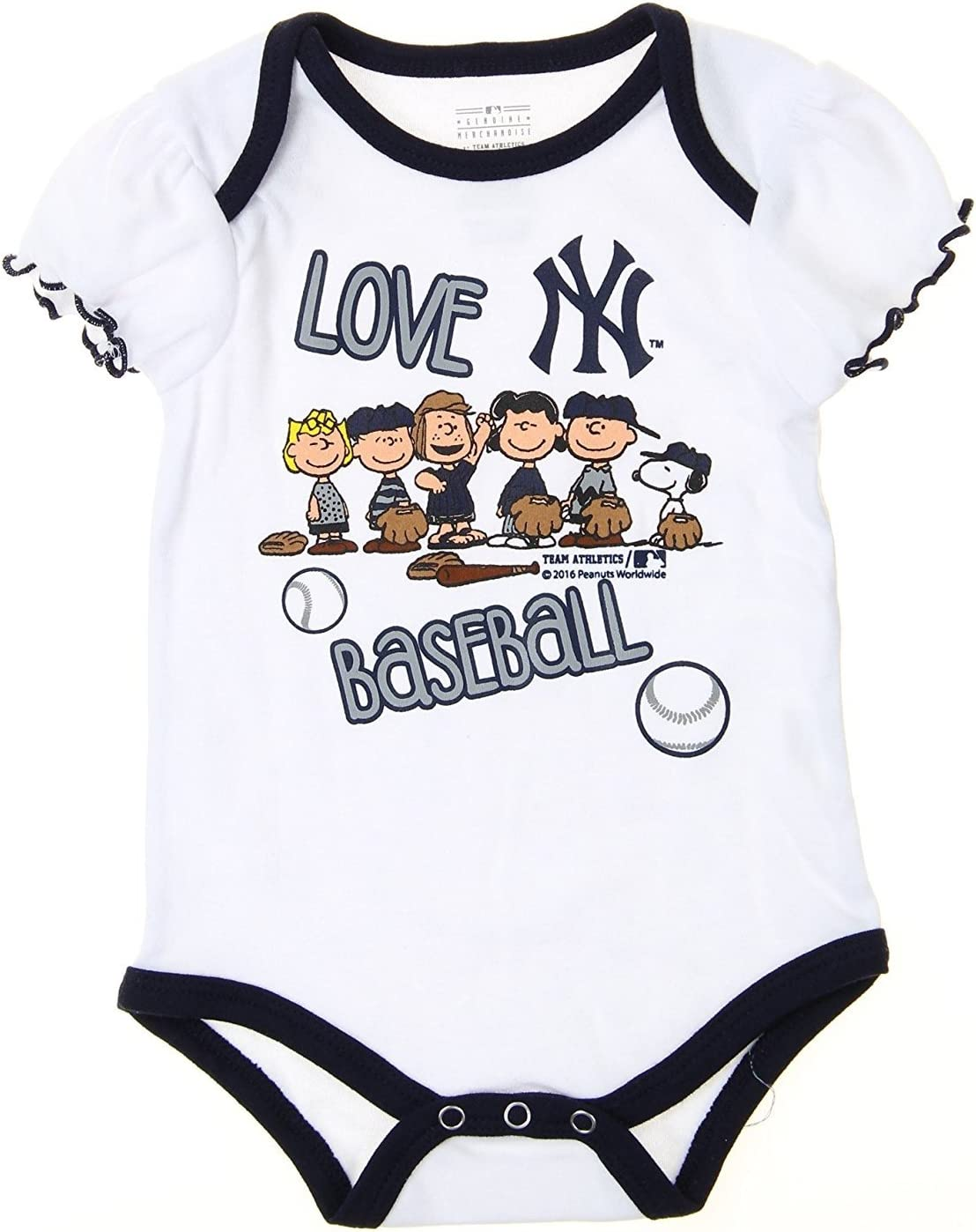 OuterStuff Boston Red Sox Boys Toddler Peanuts Bodysuit 3 Piece Creeper Set
