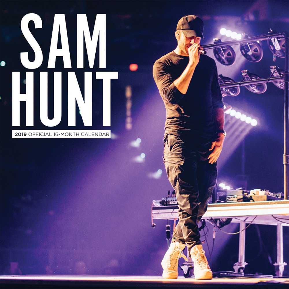 Sam Hunt 2019 12 x 12 Inch Monthly Square Wall Calendar by Merch Traffic, Country Music Singer Songwriter Celebrity (English, French and Spanish Edition) by BrownTrout Publishers