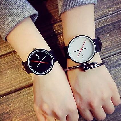ZNCD Tendencia Reloj De Mujer Estudiante Simple 2 Piezas De Personalidad Ocio Correa Retro Amante Relojes