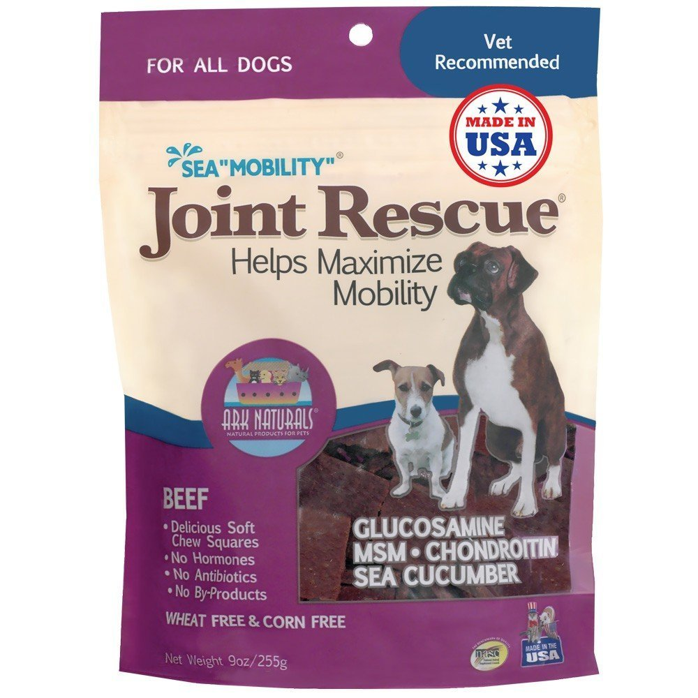 Ark Naturals Sea Mobility Joint Rescue, Beef Jerky For Dogs, 9 Oz Pack Of 2