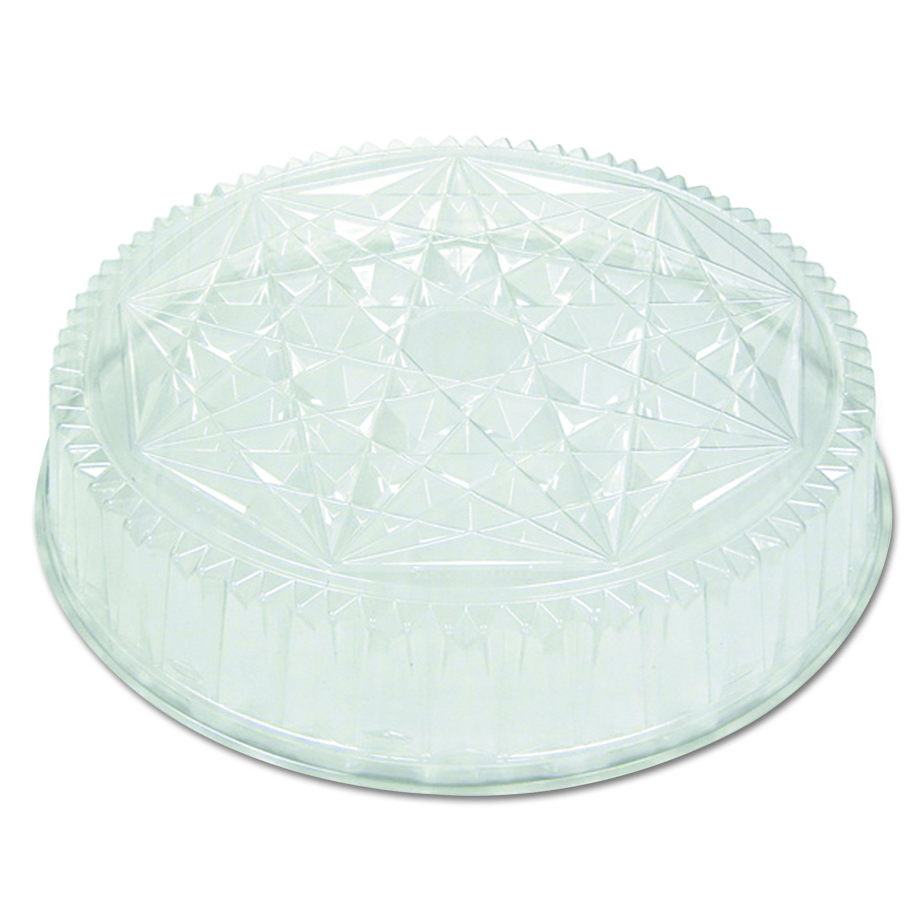 Pactiv P4416 Round CaterWare Dome-Style Food Container Lids, 1-Comp, Clear, 16 dia (Case of 50)