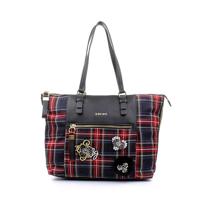 LIU.JO ACCESSORI Borsa Shopping Brenta Tartan  MainApps  Amazon.it   Abbigliamento be1b9cb890e