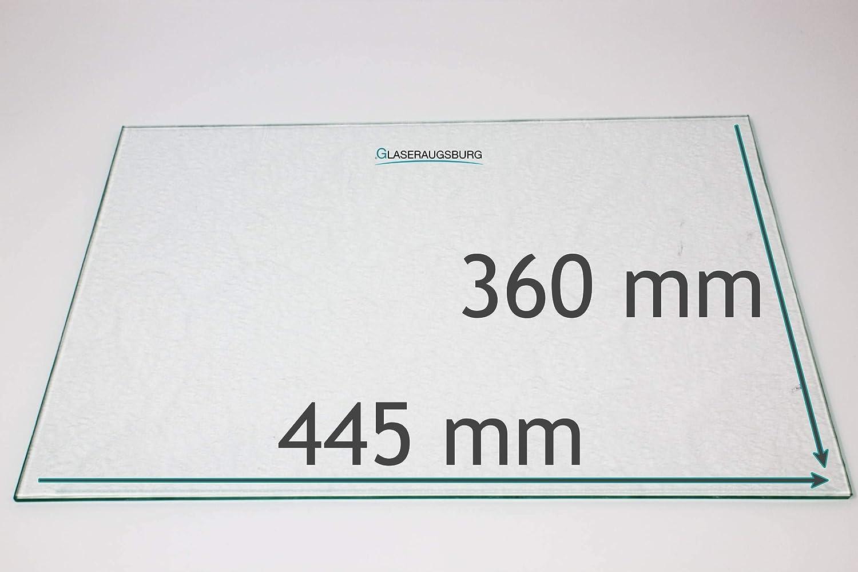 Strukturglas 4 mm dick 445 mm x 360 mm Direkt vom Glasereifachbetrieb!!! K/ühlschrank Einlegeboden//Glasplatte//Gem/üsefach