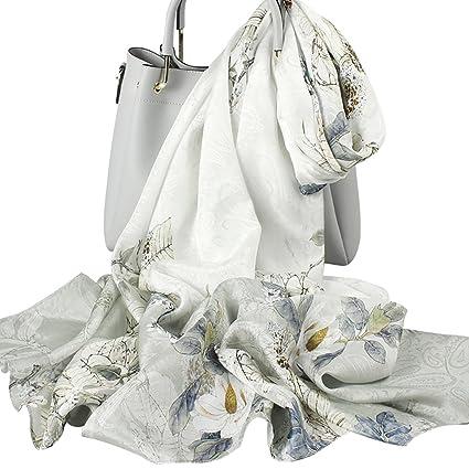 Hongseweijin Bufanda, pañuelos de Seda, Bufanda Larga Femenina, impresión de Verano sección Delgada