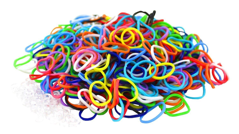 6000 élastiques multicouleur + 20 clips création bracelet style Rainbow Loom