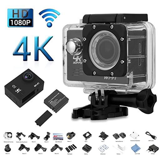 47 opinioni per Excelvan V60- Action Cam WiFi 4K 30FPS