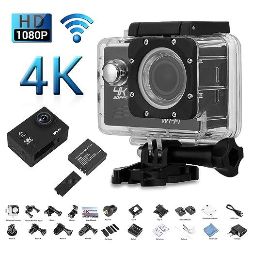 "47 opinioni per Excelvan V60- Action Cam WiFi 4K 30FPS FHD 1080P 170 ° Grandangolare 2.0"""