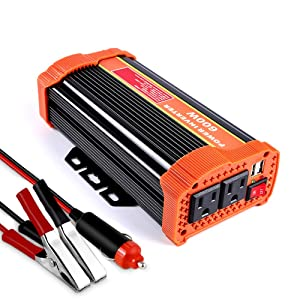 soyond 600W Car Power Inverter Converter DC 12V to 110V/120V AC with 2.1A Dual USB Car Charger Adapter