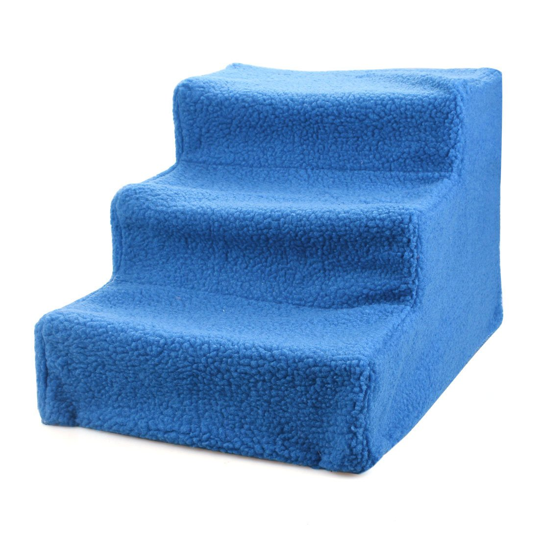 bluee Enerhu 3 Steps Pet Stairs Dogs Ladder Cats Ramp Soft Sponge up to 66lb Portable with Removable Washable Cover bluee