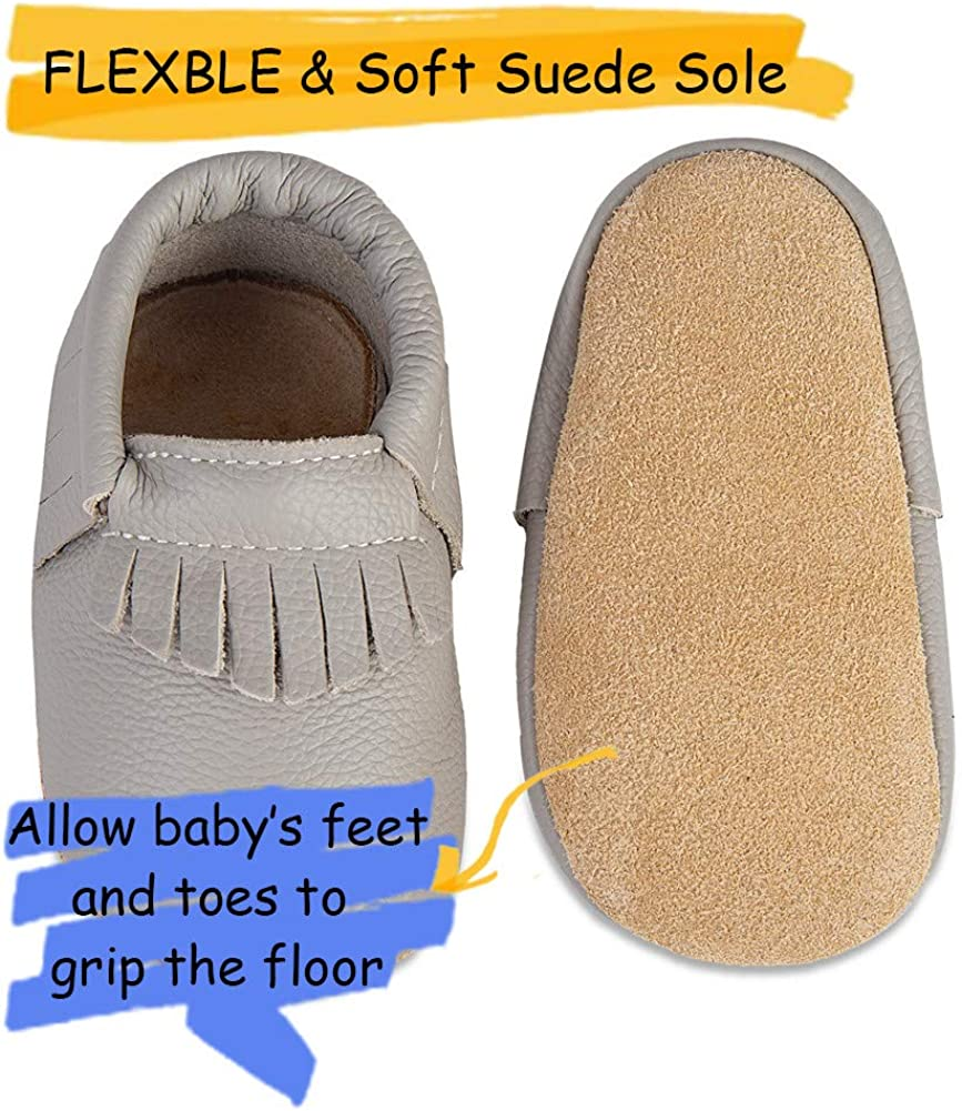 Chaussons B/éb/é Premiers Pas Chaussures Cuir Souple B/éb/é Fille Gar/çon Mignon Color/ée Animaux Pantoufles 0-6 Mois 2Ans