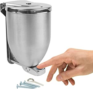 Vollum Powder-Soap Dispenser - 32 Ounce Stainless Steel Bathroom Soap Dispenser with Large Filler Cap - Strong Wall Mounted Pump Kitchen Soap Dispenser - Farmhouse Kitchen Decor Dish Soap Dispensers