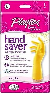 Playtex Handsaver Reusable Rubber Gloves, Large (Pack - 3)