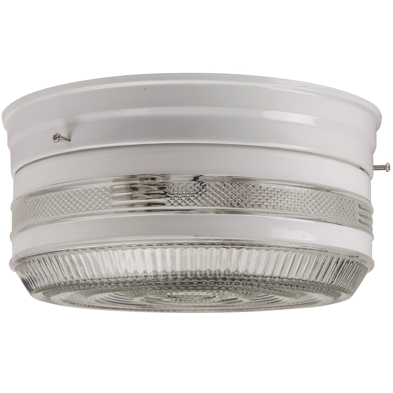 Chrome Finish with Semi-Frosted Drum Sunlite KIT6//CH 6-Inch Kitchen Ceiling Fixture