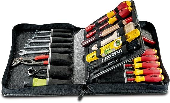 Parat 5650.040-061 - Estuche para herramientas (tamaño grande extraíble, compartimento central), color negro: Amazon.es: Bricolaje y herramientas