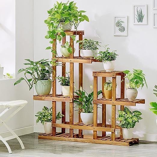 estantes para plantas / estanteria jardin Racks de flores creativas de madera maciza Balcón de la sala