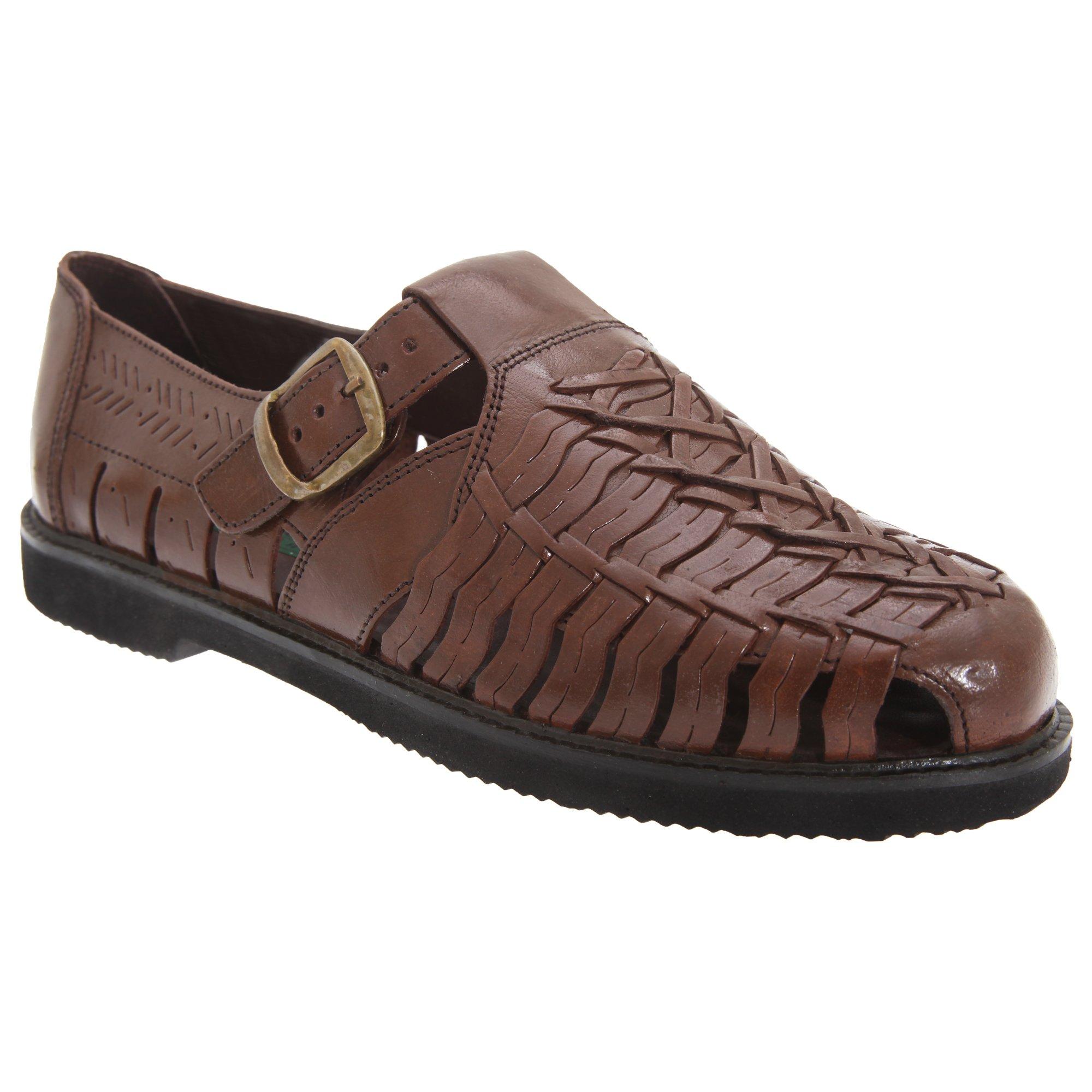Gordini Mens Leather Interlaced Sandals (11 US) (Brown)