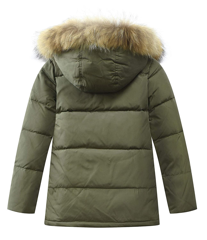 6f3c5cb2817a Mallimoda Boy s Winter Parka Coat Jacket Kids Thick Hooded Parka ...