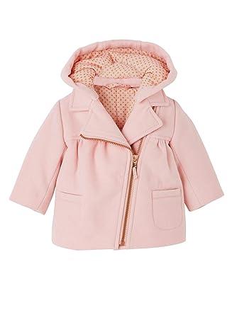 VERTBAUDET Abrigo con capucha para bebé niña efecto paño de lana Rosa 36M: Amazon.es: Ropa y accesorios