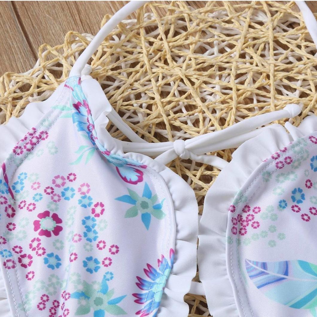 OverDose Ni/ñas beb/és de una Pieza Floral Bikini Traje de ba/ño Traje de ba/ño Traje de ba/ño