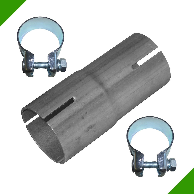 Tubo reductor 40 mm a 43 mm adaptador de escape banda acero abrazaderas Fröschl Autozubehör