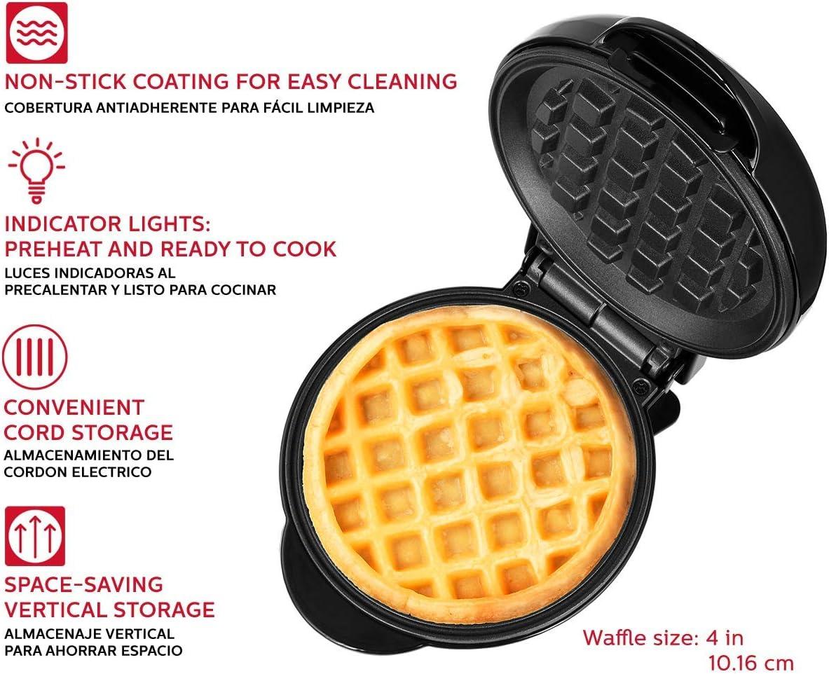 Holstein Housewares HH-09125016B Personal Non-Stick Waffle Maker Black 4