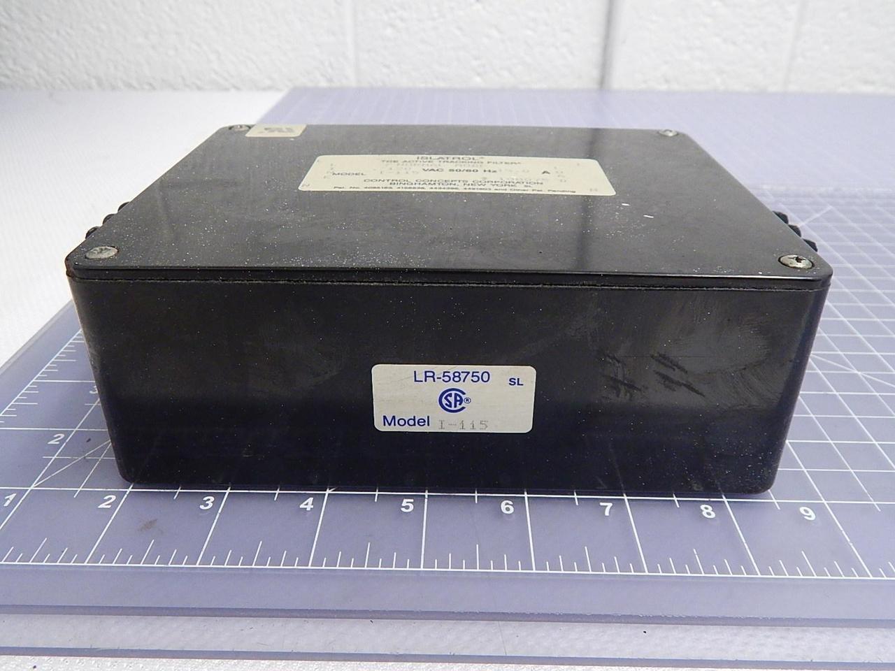 Islatrol I-115 Active Tracking Filter T100699 Control Concepts