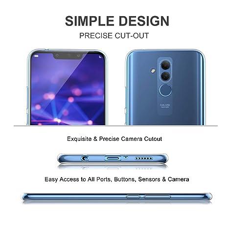 KuGi Funda Huawei Mate 20 Lite,Huawei Mate 20 Lite TPU Transparente Slim Silicona Case Cover [Anti-arañazos] para Huawei Mate 20 Lite(Transparente): ...