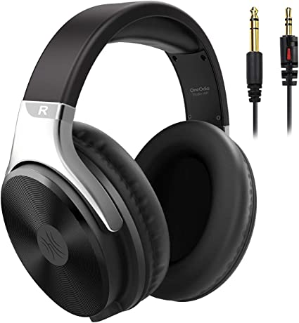 OneOdio Over Ear Wired Headphones - Studio Headphones with 50mm Driver, Noise Isolation Earcup, 3.5mm 6.35mm Jack for Computer Laptop Guitar Amp Keyboard Podcast