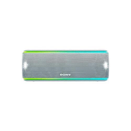 Sony SRSXB31W Altavoz portátil Bluetooth Extra Bass Modo Sonido Live Party Booster Luces de Fiesta llamativas Conector USB para Cargar Smartphone Color Blanco
