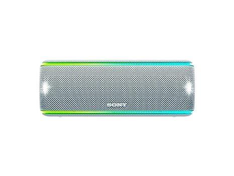 Sony SRSXB31W - Altavoz portátil Bluetooth (Extra Bass, Modo Sonido Live, Party Booster, Luces de Fiesta llamativas, Conector USB para Cargar ...