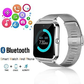 JoyGeek - Reloj inteligente con Bluetooth, teléfono con ranura para tarjeta SIM /