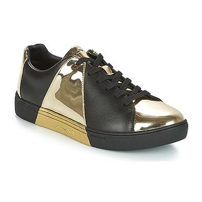 1f42f0b9af9 EMPORIO ARMANI Alda Zapatillas Moda Mujeres Negro Dorado - 38 - Zapatillas  Bajas  Amazon.es  Zapatos y complementos